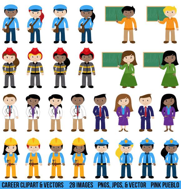 Career Characters Clipart Vectors