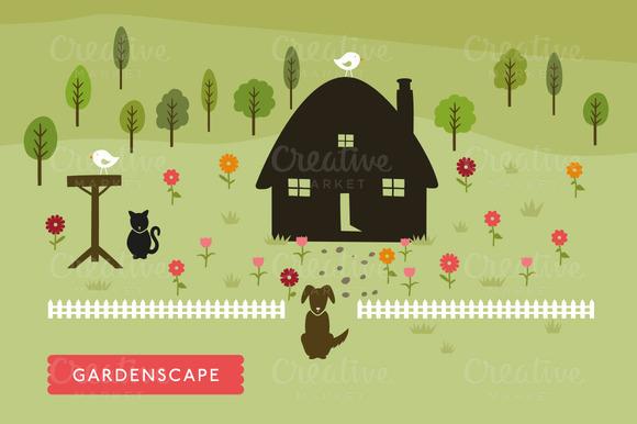 Vector GardenScape Illustration