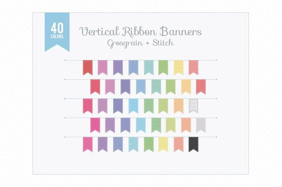 Ver Ribbon Banners Grosgrain Stitch