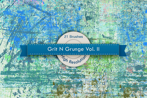 Grit N Grunge V.2 Photoshop Brushes