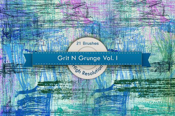 Grit N Grunge V.1 Photoshop Brushes