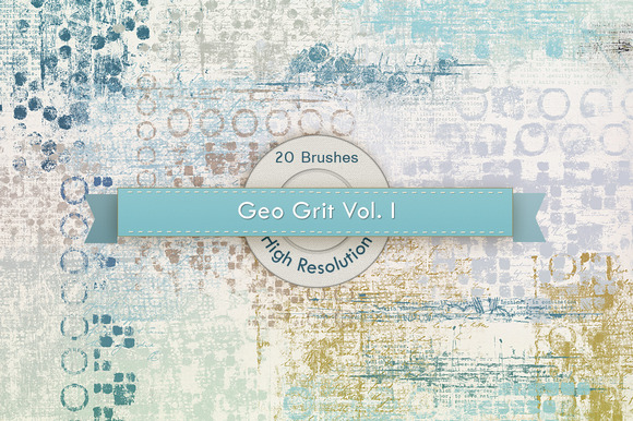 GeoGrit Vol 01 Photoshop Brushes