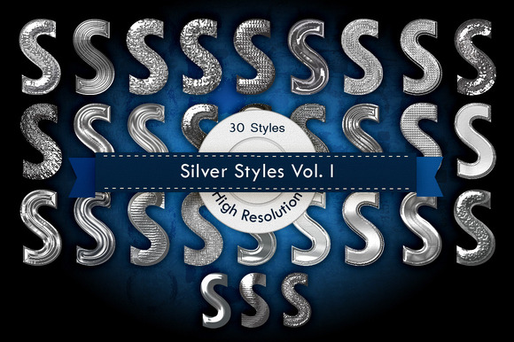 Silver Photoshop Layer Styles