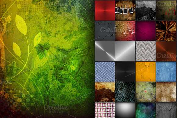 80 Grunge Backgrounds
