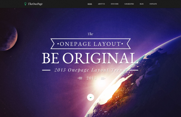 One Page Responsive HTML Template