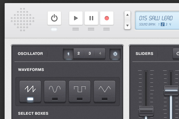 Synth Audio App UI Kit