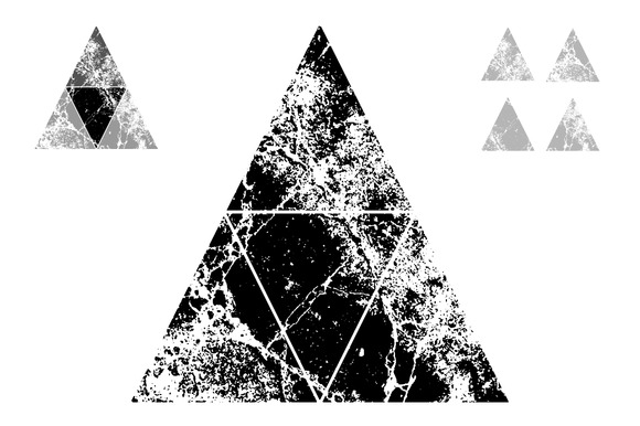 Textured Triangles Vectors