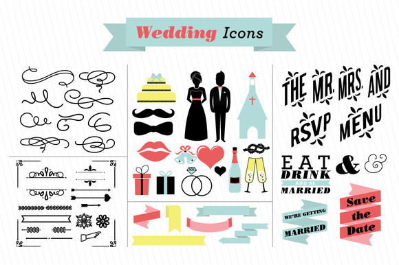 Wedding Vector Icons