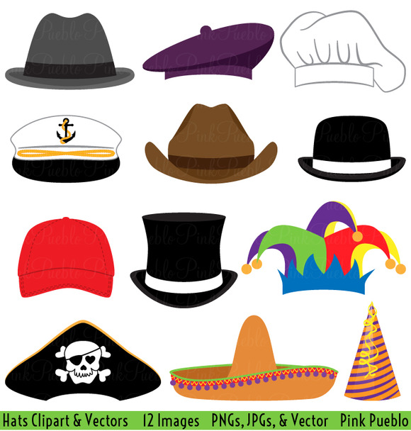Hats Clipart And Vectors