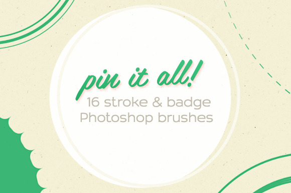 16 Pin It All Photoshop Brushes
