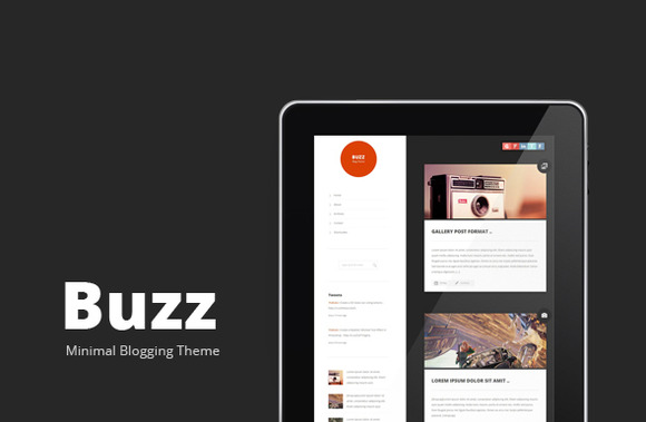 Buzz Clean Wordpress Blogging Theme