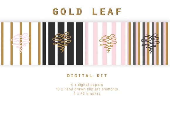 Digital Design Kit Gold Leaf