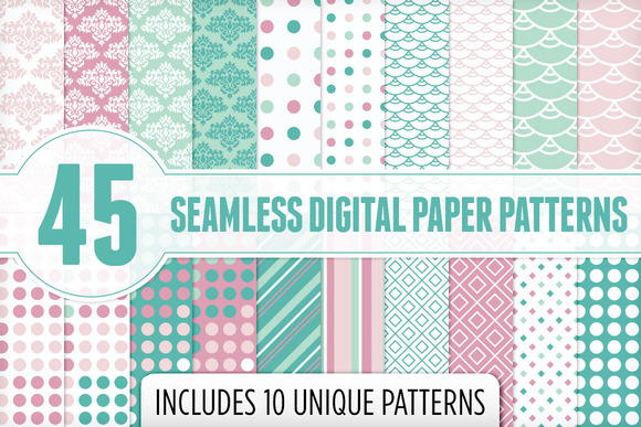Seamless Digital Paper Patterns 1