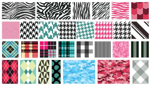 Textile Patterns Vector Pack