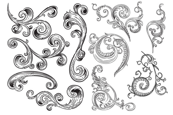 Victorian Ornaments Vector Pack