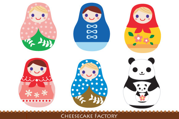 Matryoshka Russian Doll And Panda