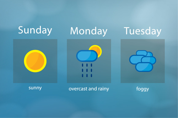 Weather Forecast Clean Icons