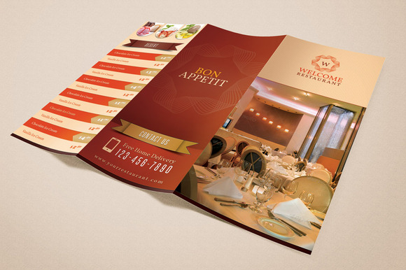 Welcome Restaurant Menu Card Pack