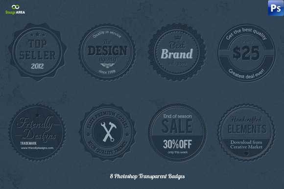 8 Transparent Photoshop Badges