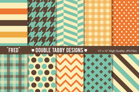 Retro Colors Pattern Backgrounds