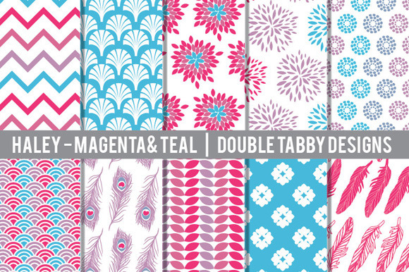 Magenta Purple And Teal Patterns