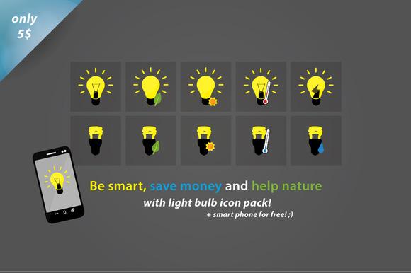 Light Bulbs Smart Icons..