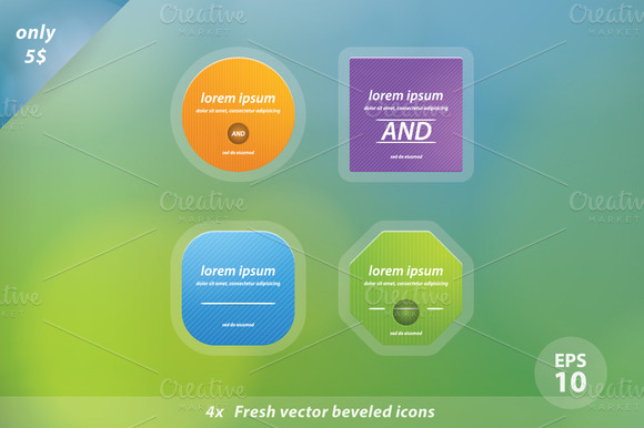 Simple Shapes Vector Template