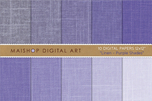Digital Papers-Linen-Purple Shades