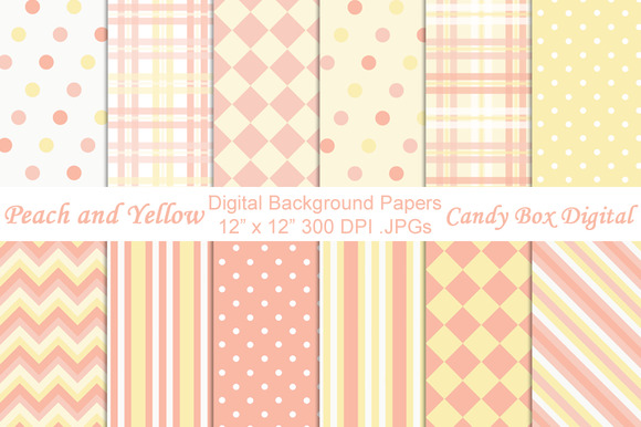 Peach And Yellow Background Papers