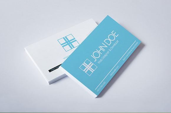 Pixels Modern Blue Business Card