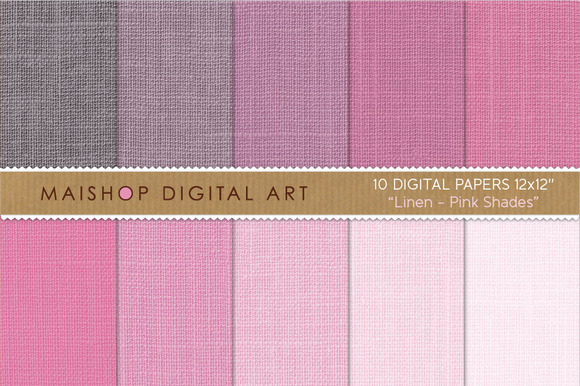 Digital Papers-Linen-Pink Shades