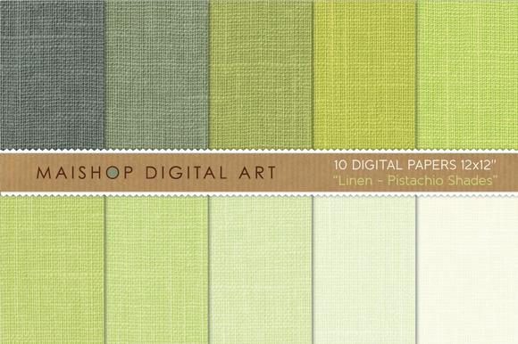 Digital Paper-Linen-Pistachio Shades
