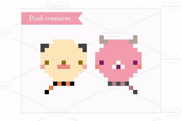 Clip Art-Pixel Creatures