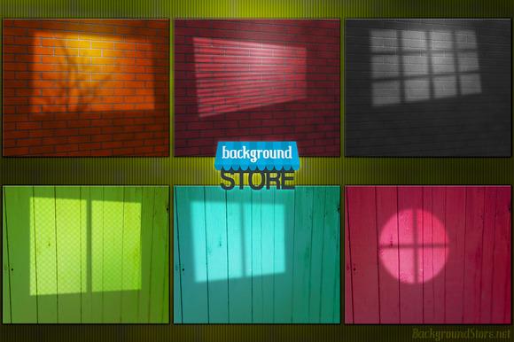 Window Lights Studio Backdrop