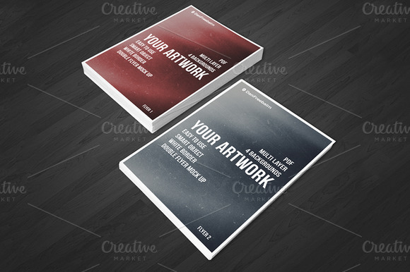 Double Flyer Mockup PSD