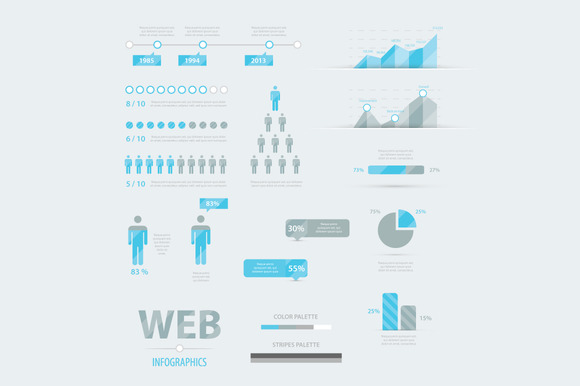 Web Infographics Set Vector