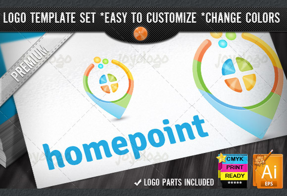 3D House Guide Home Point Logo