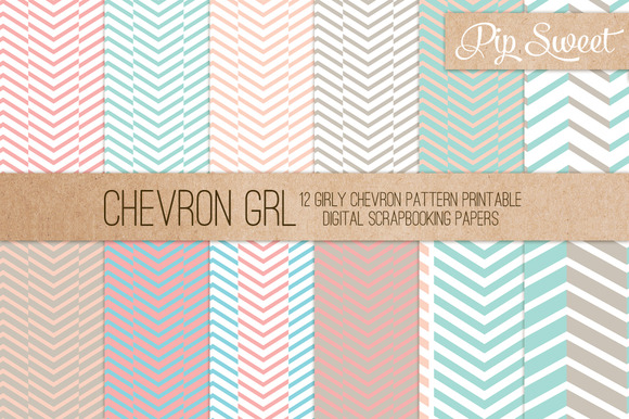 Chevron GRL 12 Pattern Set