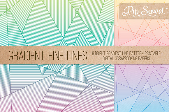 Gradient Fine Lines 8 Patterns