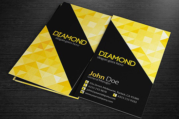 Multipurpose Business Cards Diamon