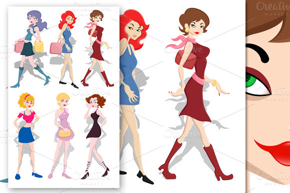Girls Vectors Set