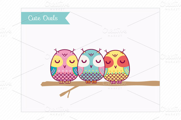 Clip Art-Cute Owls