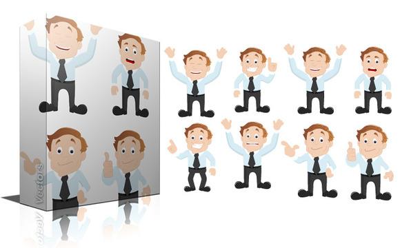 Cartoon Office Guy Vectors