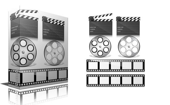 Media Elements Icons Vectors