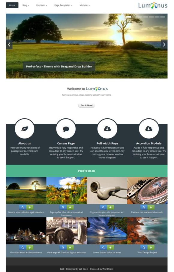 Luminus Responsive WordPress Theme