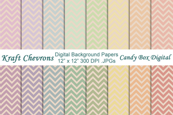 Chevrons On Kraft Background Paper