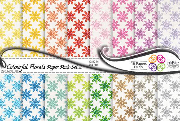 Colorful Floral Paper Pack Set 2