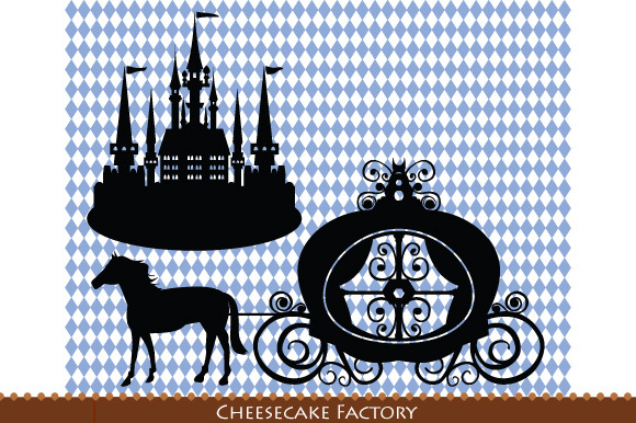 Castle Carriage Horse Silhouette