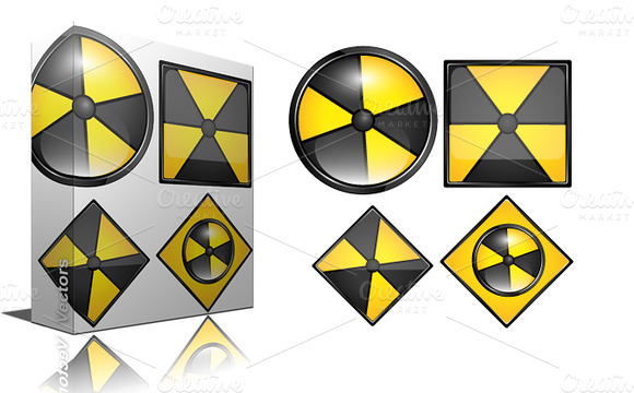 Radiation Signs Icons
