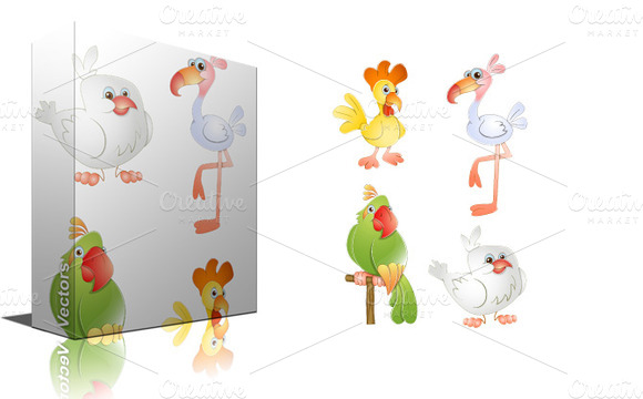 Cute Birds Vectors
